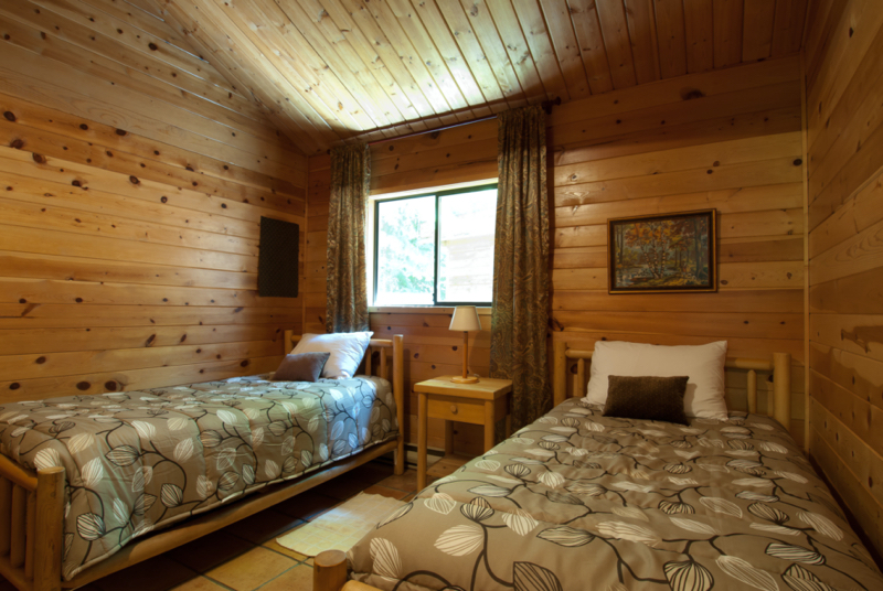 two beds bedroom cabin